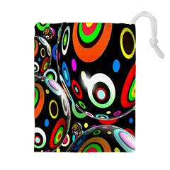 Background Balls Circles Drawstring Pouches (extra Large) by Nexatart