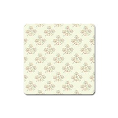 Seamless Floral Pattern Square Magnet by TastefulDesigns