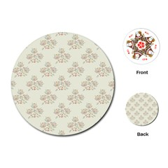 Seamless Floral Pattern Playing Cards (round)  by TastefulDesigns