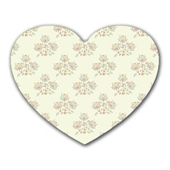 Seamless Floral Pattern Heart Mousepads by TastefulDesigns