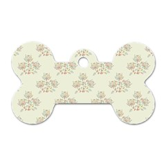Seamless Floral Pattern Dog Tag Bone (two Sides) by TastefulDesigns