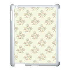 Seamless Floral Pattern Apple Ipad 3/4 Case (white) by TastefulDesigns