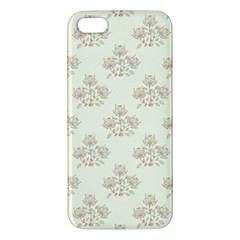 Seamless Floral Pattern Apple Iphone 5 Premium Hardshell Case by TastefulDesigns