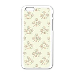 Seamless Floral Pattern Apple iPhone 6/6S White Enamel Case by TastefulDesigns