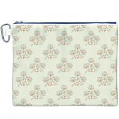 Seamless Floral Pattern Canvas Cosmetic Bag (xxxl) by TastefulDesigns