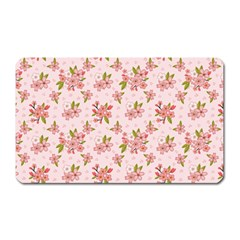 Beautiful Hand Drawn Flowers Pattern Magnet (rectangular) by TastefulDesigns