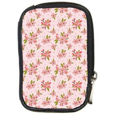 Beautiful Hand Drawn Flowers Pattern Compact Camera Cases by TastefulDesigns