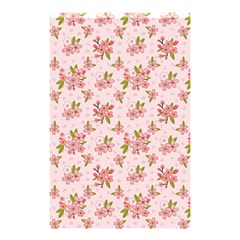 Beautiful Hand Drawn Flowers Pattern Shower Curtain 48  X 72  (small)  by TastefulDesigns