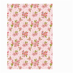 Beautiful Hand Drawn Flowers Pattern Small Garden Flag (two Sides) by TastefulDesigns