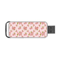 Beautiful Hand Drawn Flowers Pattern Portable Usb Flash (one Side) by TastefulDesigns