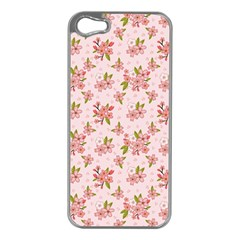 Beautiful Hand Drawn Flowers Pattern Apple Iphone 5 Case (silver) by TastefulDesigns