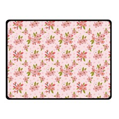Beautiful Hand Drawn Flowers Pattern Double Sided Fleece Blanket (small)  by TastefulDesigns