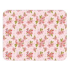 Beautiful Hand Drawn Flowers Pattern Double Sided Flano Blanket (large)  by TastefulDesigns