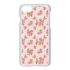 Beautiful Hand Drawn Flowers Pattern Apple Iphone 7 Seamless Case (white) by TastefulDesigns