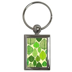 Leaves Pattern Design Key Chains (rectangle)  by TastefulDesigns