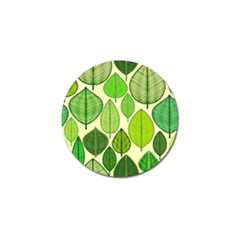 Leaves Pattern Design Golf Ball Marker (4 Pack) by TastefulDesigns