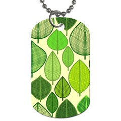 Leaves Pattern Design Dog Tag (two Sides) by TastefulDesigns