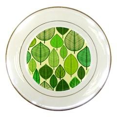 Leaves Pattern Design Porcelain Plates by TastefulDesigns