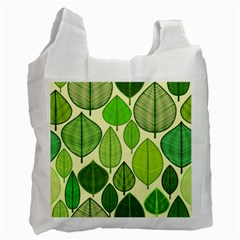 Leaves Pattern Design Recycle Bag (two Side)  by TastefulDesigns