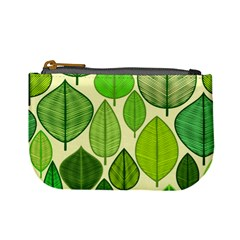 Leaves Pattern Design Mini Coin Purses by TastefulDesigns