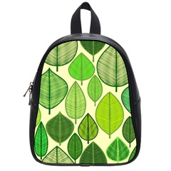 Leaves Pattern Design School Bags (small)  by TastefulDesigns