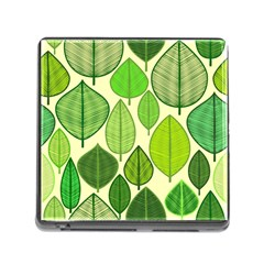 Leaves Pattern Design Memory Card Reader (square) by TastefulDesigns