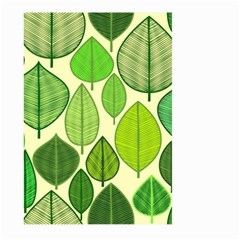 Leaves Pattern Design Large Garden Flag (two Sides) by TastefulDesigns