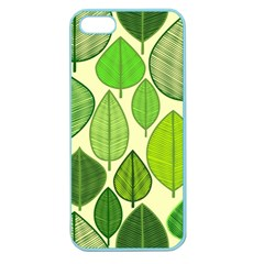Leaves Pattern Design Apple Seamless Iphone 5 Case (color) by TastefulDesigns
