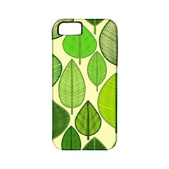 Leaves Pattern Design Apple Iphone 5 Classic Hardshell Case (pc+silicone) by TastefulDesigns