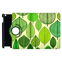 Leaves Pattern Design Apple Ipad 2 Flip 360 Case by TastefulDesigns