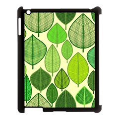 Leaves Pattern Design Apple Ipad 3/4 Case (black) by TastefulDesigns