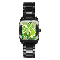 Leaves Pattern Design Stainless Steel Barrel Watch by TastefulDesigns