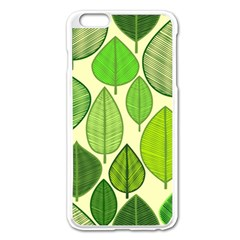 Leaves Pattern Design Apple Iphone 6 Plus/6s Plus Enamel White Case by TastefulDesigns