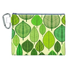 Leaves Pattern Design Canvas Cosmetic Bag (xxl) by TastefulDesigns