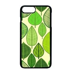 Leaves Pattern Design Apple Iphone 7 Plus Seamless Case (black) by TastefulDesigns