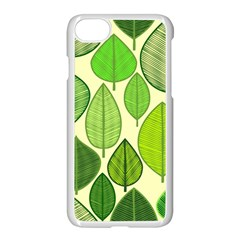 Leaves Pattern Design Apple Iphone 7 Seamless Case (white) by TastefulDesigns