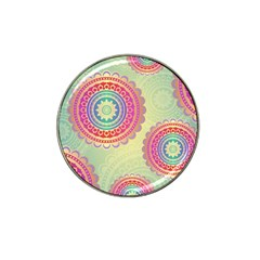 Abstract Geometric Wheels Pattern Hat Clip Ball Marker (4 Pack) by LovelyDesigns4U