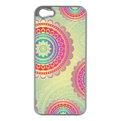Abstract Geometric Wheels Pattern Apple Iphone 5 Case (silver) by LovelyDesigns4U