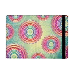 Abstract Geometric Wheels Pattern Ipad Mini 2 Flip Cases by LovelyDesigns4U