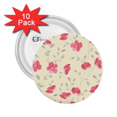 Seamless Flower Pattern 2 25  Buttons (10 Pack)  by TastefulDesigns