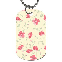 Seamless Flower Pattern Dog Tag (one Side) by TastefulDesigns