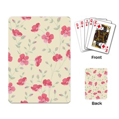 Seamless Flower Pattern Playing Card by TastefulDesigns