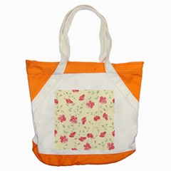 Seamless Flower Pattern Accent Tote Bag by TastefulDesigns