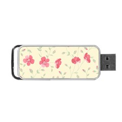 Seamless Flower Pattern Portable Usb Flash (one Side) by TastefulDesigns