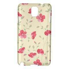 Seamless Flower Pattern Samsung Galaxy Note 3 N9005 Hardshell Case by TastefulDesigns