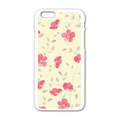 Seamless Flower Pattern Apple Iphone 6/6s White Enamel Case by TastefulDesigns