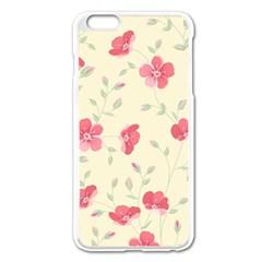 Seamless Flower Pattern Apple Iphone 6 Plus/6s Plus Enamel White Case by TastefulDesigns
