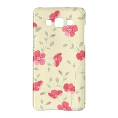 Seamless Flower Pattern Samsung Galaxy A5 Hardshell Case  by TastefulDesigns