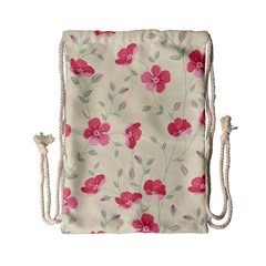 Seamless Flower Pattern Drawstring Bag (Small) by TastefulDesigns