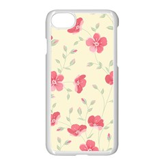 Seamless Flower Pattern Apple Iphone 7 Seamless Case (white) by TastefulDesigns